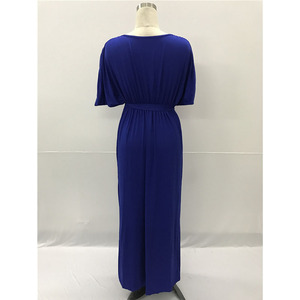 Image 5 - Maternity Evening Dress For Pregnant Women Clothes Long Loose Deep V neck Lady Pregnancy Dress Vestidos Gravidas Clothing Summer