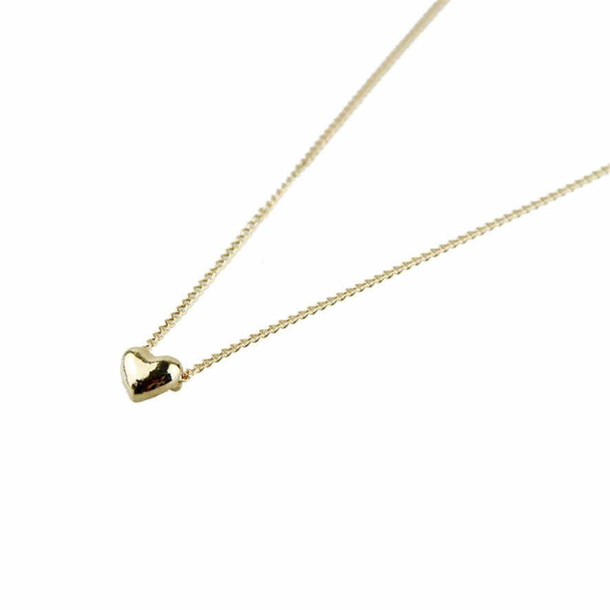 2019 Best Price Simple Smooth Small Heart Rose Gold Pated Pendant Necklace Jewelry Austrian Crystal Wholesale  52510