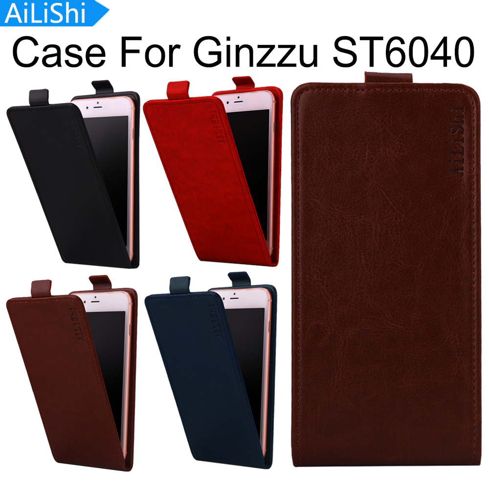 AiLiShi Top Quality PU Up And Down Flip Leather Case Fashion Protective Cover Skin For <font><b>Ginzzu</b></font> <font><b>ST6040</b></font> Case 4-Colors In Stock image