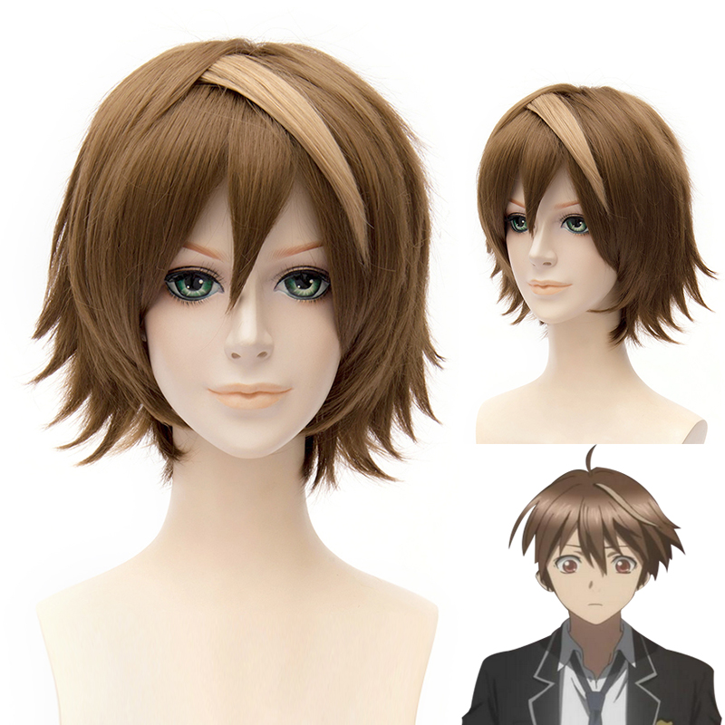 Japanese Anime Guilty Crown OUMA SHU Cosplay Brown Wig Boy OUMA SHU Brown Hair costumes free shipping