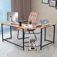 Goplus l образный угловой компьютерный стол ПК Latop стол для учебы Современная рабочая станция домашний офисный стол коммерческая мебель HW56370