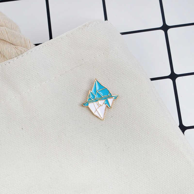 Gunung Es Pin Bros Lencana Keras Enamel Pin Kartun Enamel Pin Aksesori Fashion untuk T-shirt Mantel atau Jeans Dekoratif
