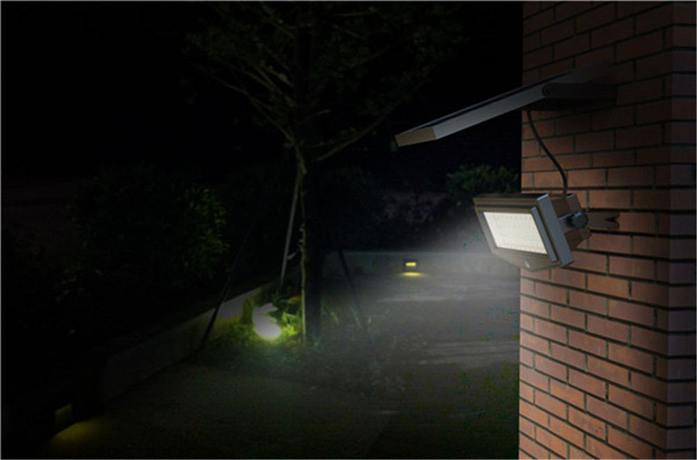 Solar powered remote control solar light 44 led waterproof ip65 solar powered remote control solar light 44 led waterproof ip65 pir motion sensor outdoor fence garden pathway wall light in solar lamps from lights mozeypictures Choice Image