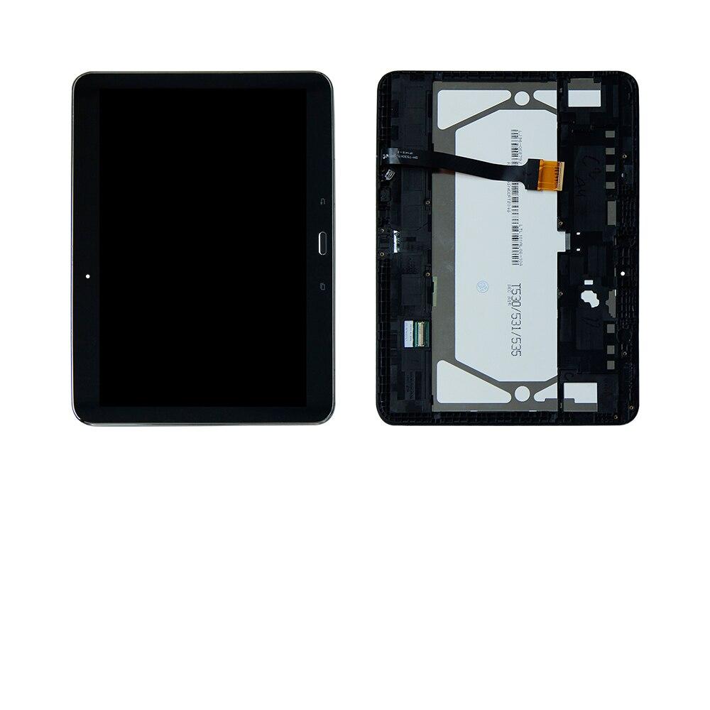 Для Samsung Galaxy Tab 4 sm-t530nu T530 Сенсорный экран планшета ЖК-Дисплей сборки Рамки ...