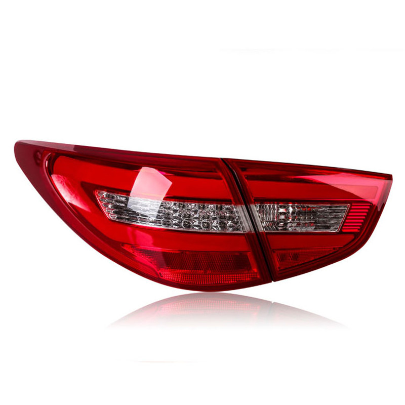Ownsun High Quality LED DRLs+Brake Lights+Reversing Lights+Turn Singnal Car Rear Taillights Tail Lamps For Hyunda IX35 xuankun off road motorcycle modified led taillights turn lights brake lights license plate tail lighthouse