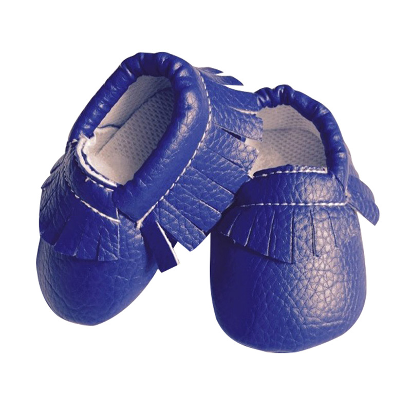Cute Baby Moccasin Newborn Baby Prewalkers Shoes First Walker Soft Bottom Non-slip PU Leather Tassel Toddler Boot 88 NSV