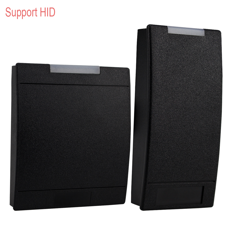 RFID Card Reader Support HID EM ID Card Reader 125KHz Proximity Smart Card Reader Lector With LED Light High quality Black Color high quality drawer locker mini size with id card reader