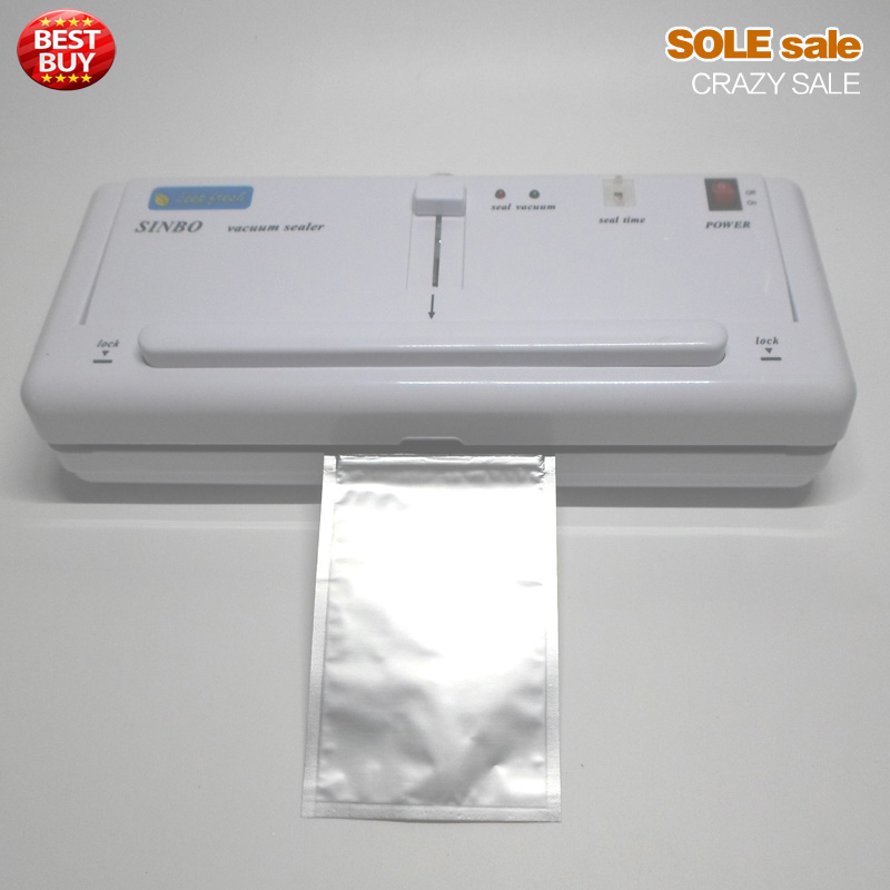 Household Vacuum Sealer Vacuum Bags Plastic Packing Machine Degasser Kitchen Fruit Food Aluminum Bags Vacuum Packer DZ280