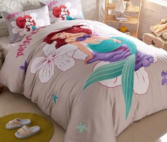 Little mermaid bedding queen size bedding set kids bed set 100