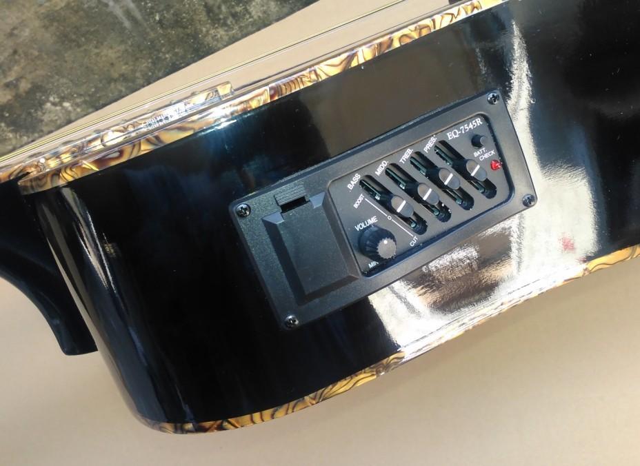 черный акустическая гитара с эквалайзер 41 дюймов полный cellulite связывание