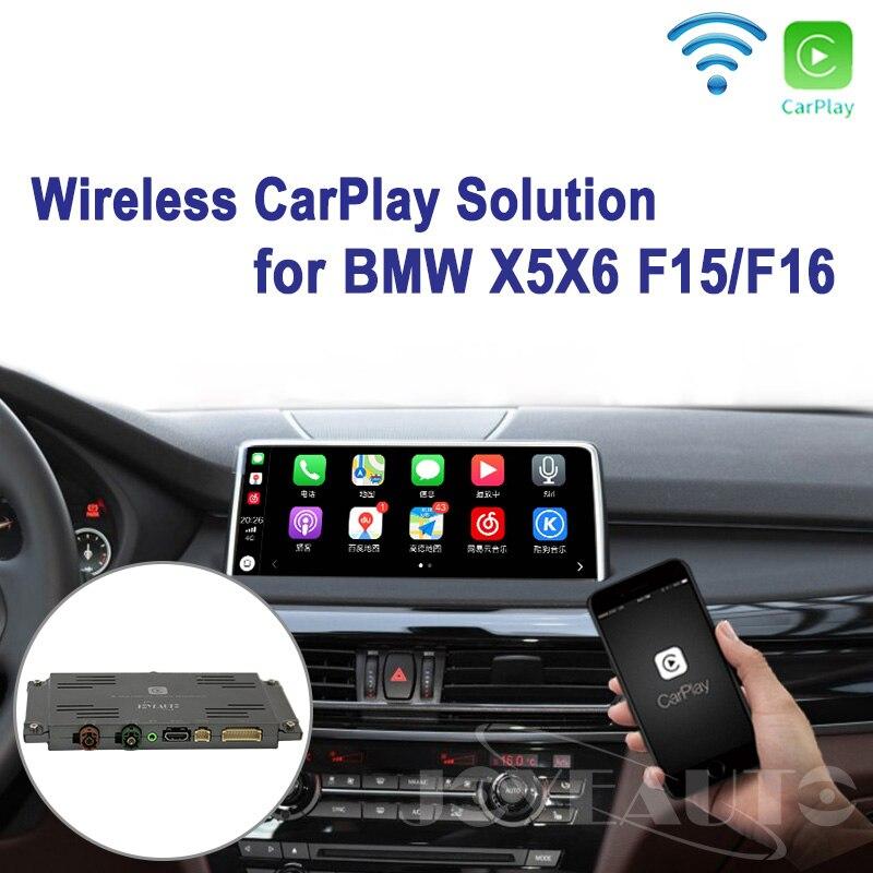 Joyeauto WI-FI Sem Fio Apple Carplay Retrofit X5 X6 F25 F26 NBT 2013-2016 para BMW suporte Câmera Reversa Waze spotify