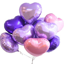 APRICOT 18inch Big Heart Globos Metallic Color 18 inch Infatable Foil Balloons for Party Wedding Decoration Balloons