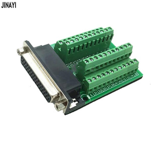 Image 4 - DB44 44 conector de montaje de riel DIN macho hembra Mini Terminal Breakout adaptador de placa Tipo PCI