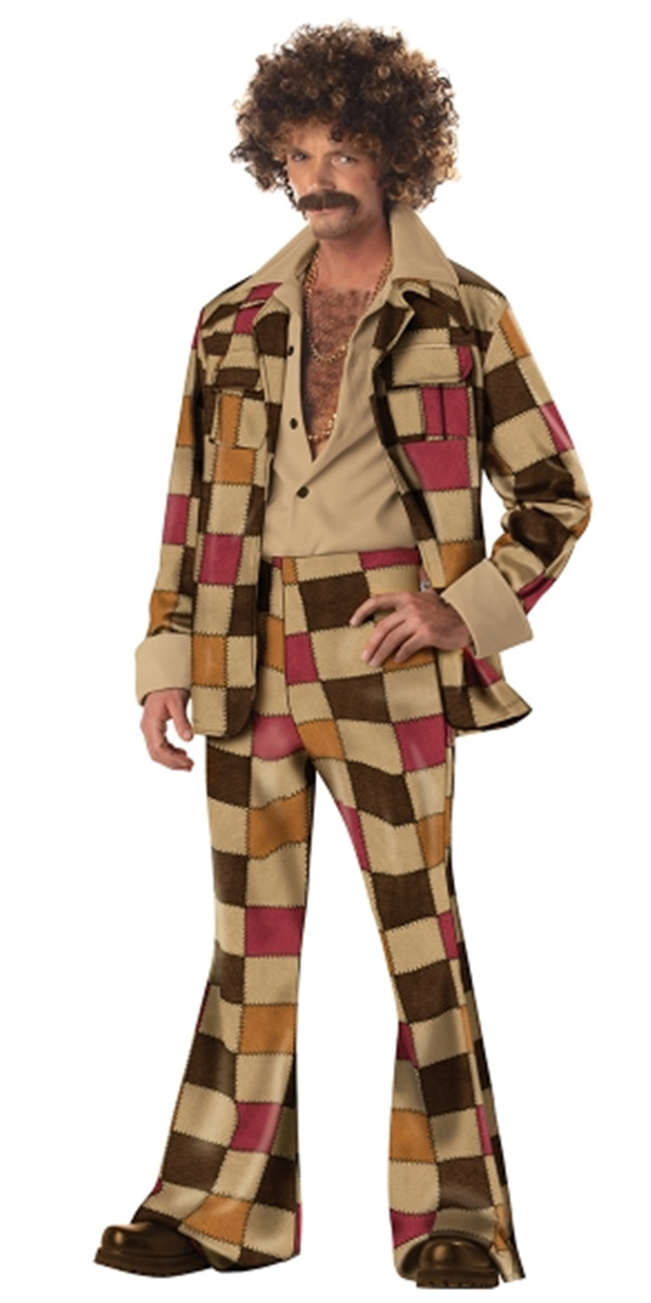 Vocole Men's 60s 70s Disco Jacket Shirt Pant Halloween
