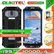 OUKITEL WP2 IP68 водонепроницаемый пыли устойчивый к ударам мобильный телефон 4 Гб 64 Гб MT6750T Восьмиядерный 6,0 «18:9 10000 mAh смартфон отпечатков пальцев