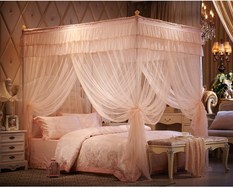Bed Gordijn 5 : Romantische kant zomer slaapkamer klamboe europese paleis prinses