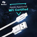 Benks MFI Certified Nylon Braided 2.4A Fast Charge Cable for Lightning to USB, Phone Tough Data Sync Cables for iPhone iPad iPod