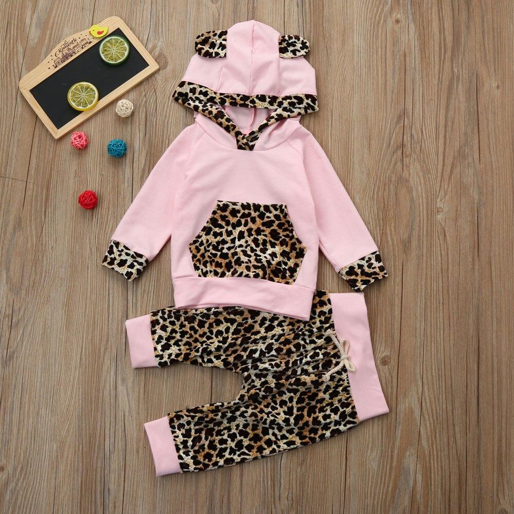 Baby leopard print hoo Newborn Infant Baby Girl Leopard