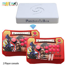 Pandora Box 6 1300 in 1 Arcade Stick Controller Senza Fili Supporto fba mame ps1 Gioco Arcade Joystick Lotta Controller di Gioco kit 3d(China)