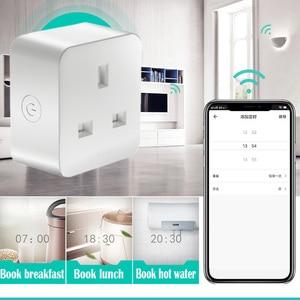Image 3 - smart home Wifi socket for Alexa/google assistant mobile APP remote control smart UK socket for graffiti program Remote control