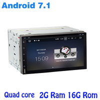 2G RAM Universal Double 2 Din Android 7 1 Car DVD Gps Player Car Auto Radio