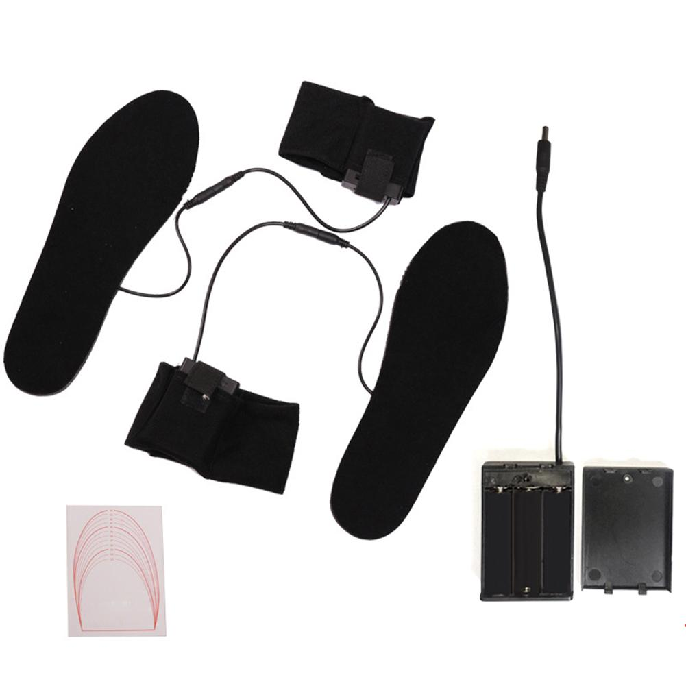 1 Pair Battery Powered Heated Shoe Pad Insoles Winter Boots Feet Warm Heater Soles For Shoe