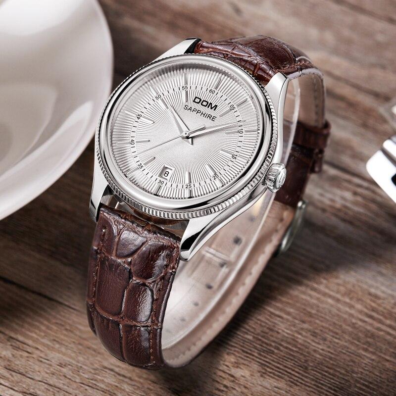 Homens relógios DOM marca de luxo à prova de água de couro de Negócios homens homens de ouro relógios M518GL7M quartzgold - 3