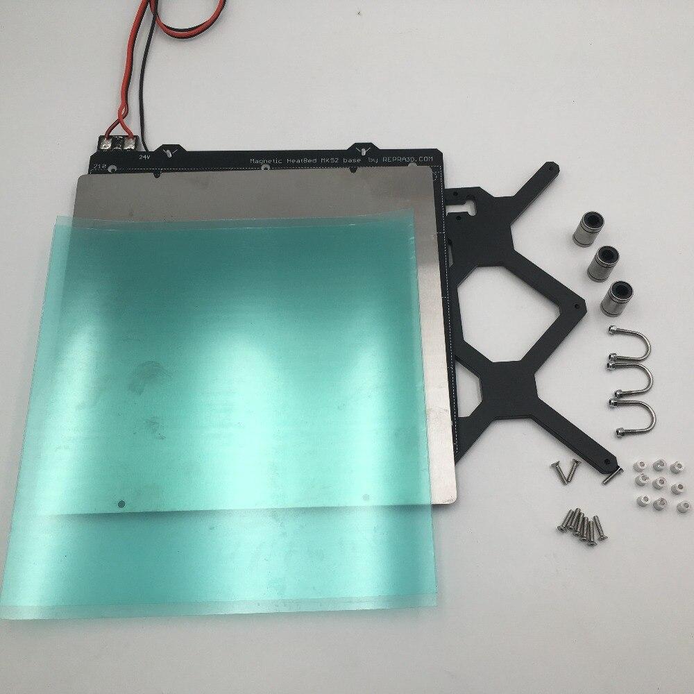Reprap Prusa i3 mk3 3d imprimante chauffée lit kit complet PCB aimants lit, Y transport, tôle d'acier, PEI feuille ensemble