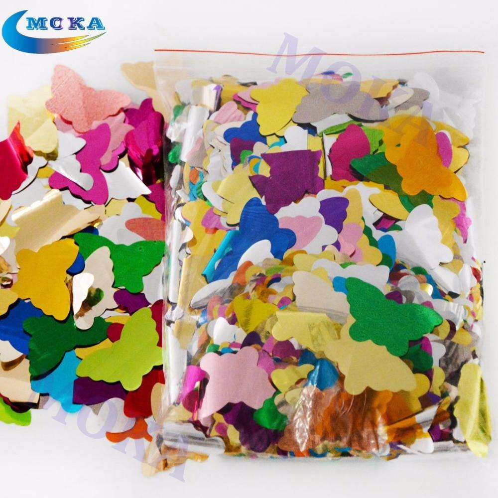 5 кг/лот красочные конфетти бумаги для сценический эффект конфетти машина аксессуары бабочки для Свадебные украшения