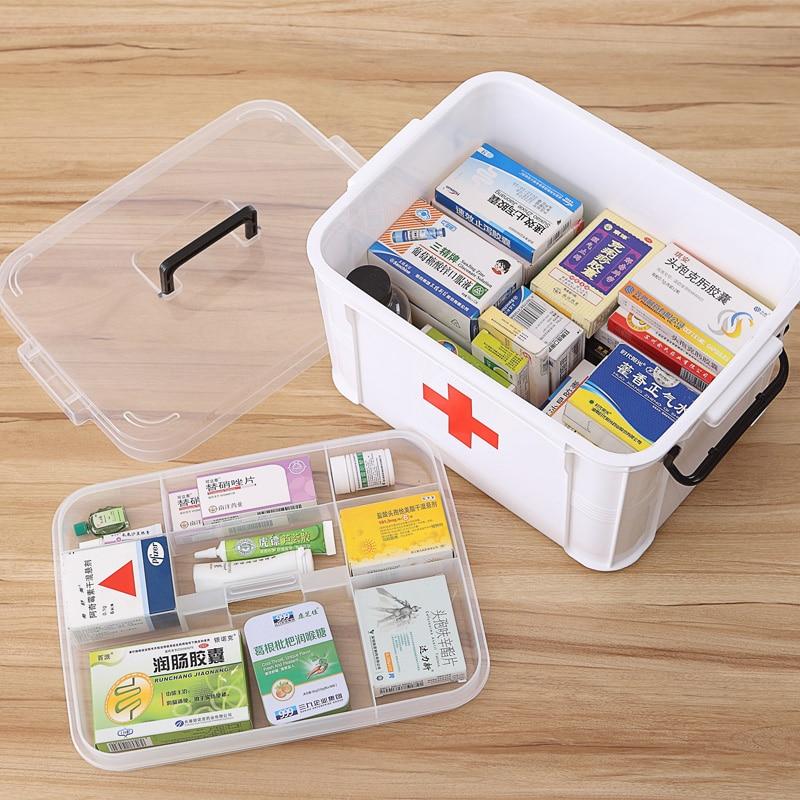 Hot Draagbare Geneeskunde Borstkast Gezondheidszorg Plastic Drug - Home opslag en organisatie