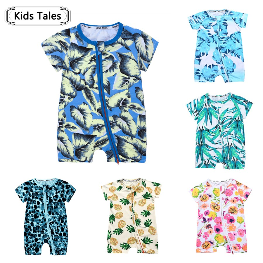 2018 Newborn Rompers Baby Clothes Summer Baby Jumpsuit with Short Sleeve One-piece Jumpsuit Baby Boy Girl Clothes SR285 2018 kids cosplay jumpsuit product baby clothing baby girl rompers baby boy newborn hoodie clothes with sock