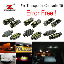 22x LED License plate lamp + Interior reading Lights Kit for Volkswagen Accessories for Transporter Caravelle MK5 T5 (2003-2015)(China)