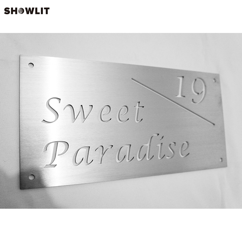 Custom Laser Cut House Number Door Sign With Road Street NameCustom Laser Cut House Number Door Sign With Road Street Name