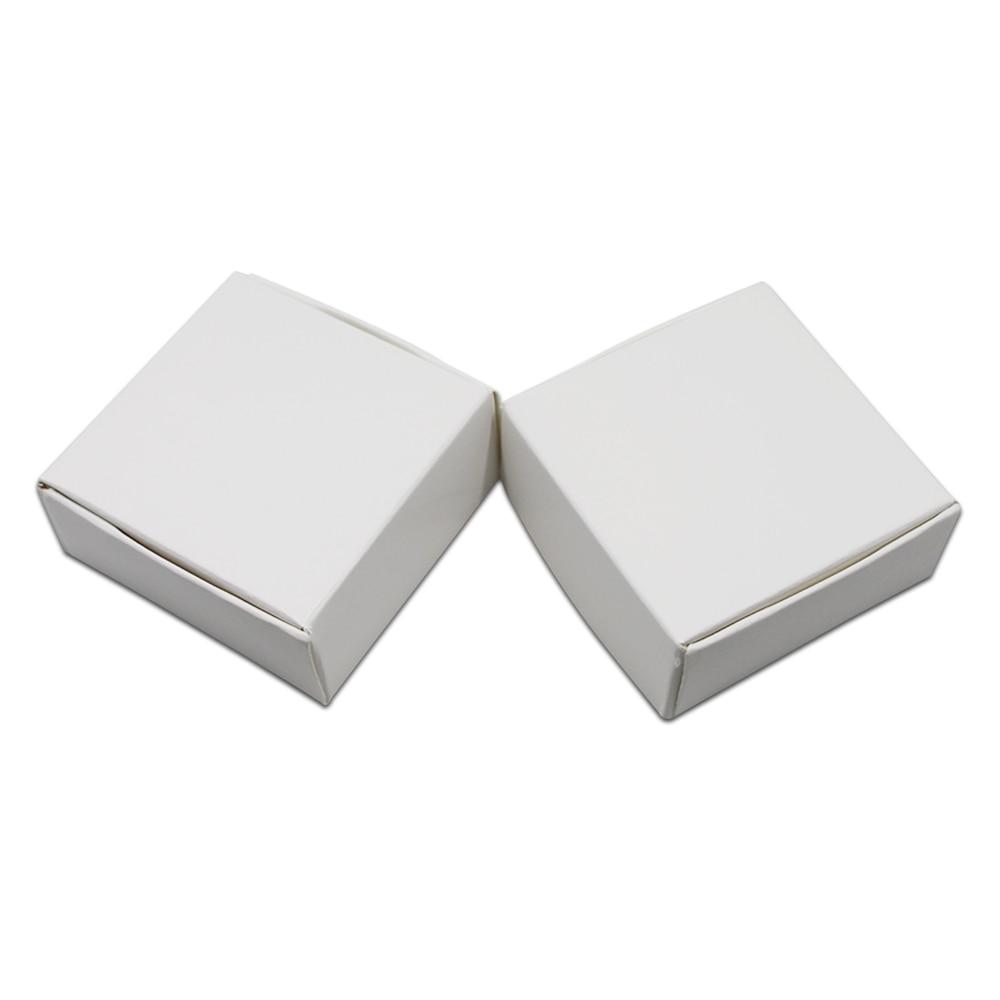 4425cm Small Blank White Paper Jewelry Box Wedding Gift Box DIY
