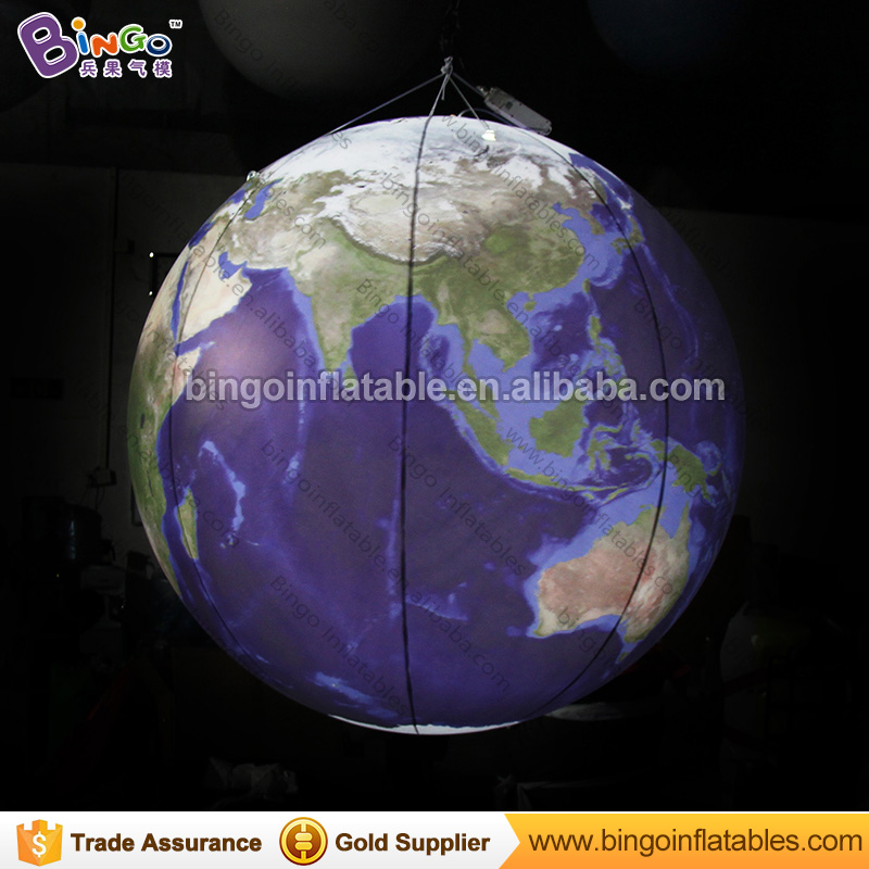 2017 New giant earth ball / inflatable earth globe / inflatable hanging earth ball with LED light for stage decoration 3m diameter empty inflatable snow ball for advertisement christmas decorations giant inflatable snow globe