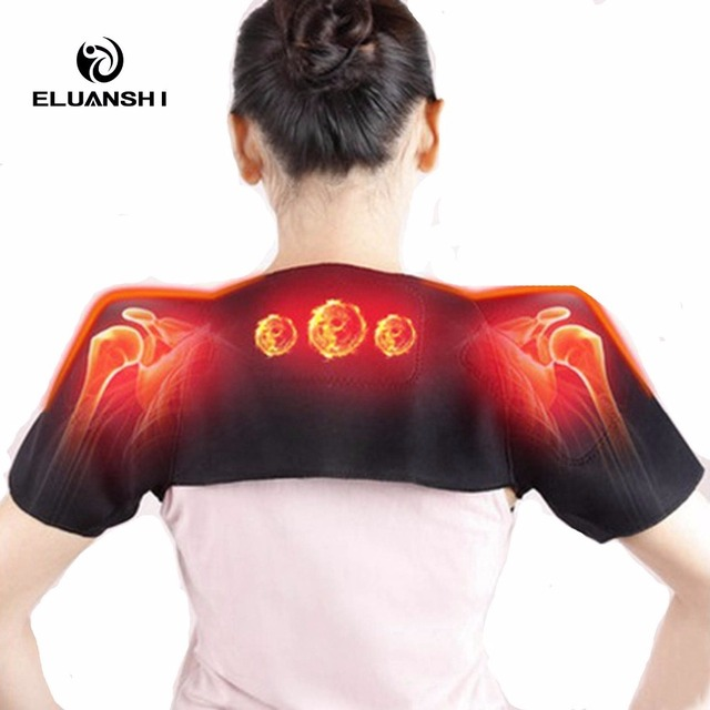 Self Heating Pain Relieve Magnetic Massager Therapy the posture corrector back support Belt Brace women tape Black basketball