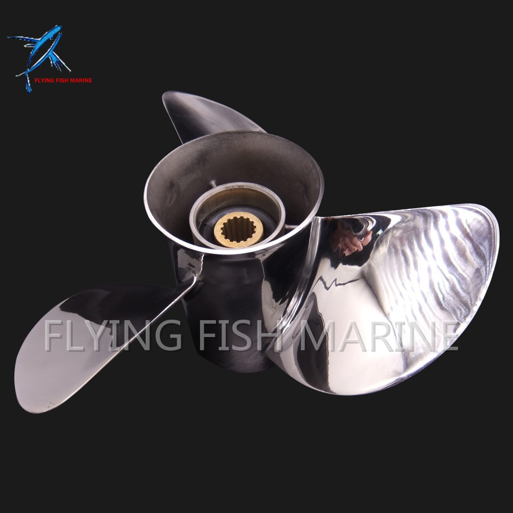 688-45970-03-98 Boat Motor Stainless Steel Propeller 13x19-K for Yamaha 60HP 70HP 75HP 80HP 85HP 90HP 115HP 130HP Outboard oversee propeller 6e5 45945 01 el 00 size 13 1 4x17 k for yamaha outboard motor motor 75hp 85hp 90hp 115hp 13 1 4x17 k page 8