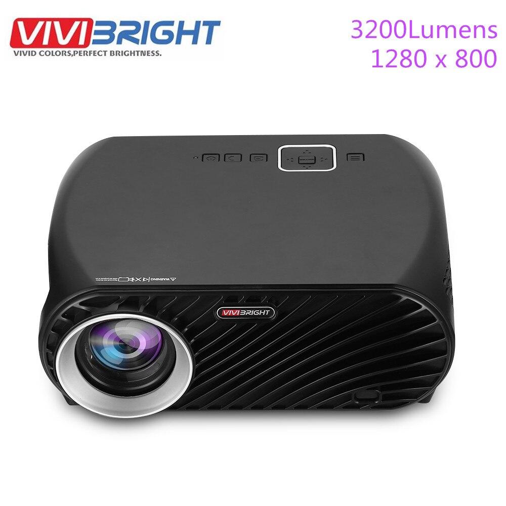 Projecteur Original VIVIBRIGHT GP100 Full HD 3200 Lumen 1080 P wifi LED LCD cinéma maison projecteur vidéo haut-parleur intégré