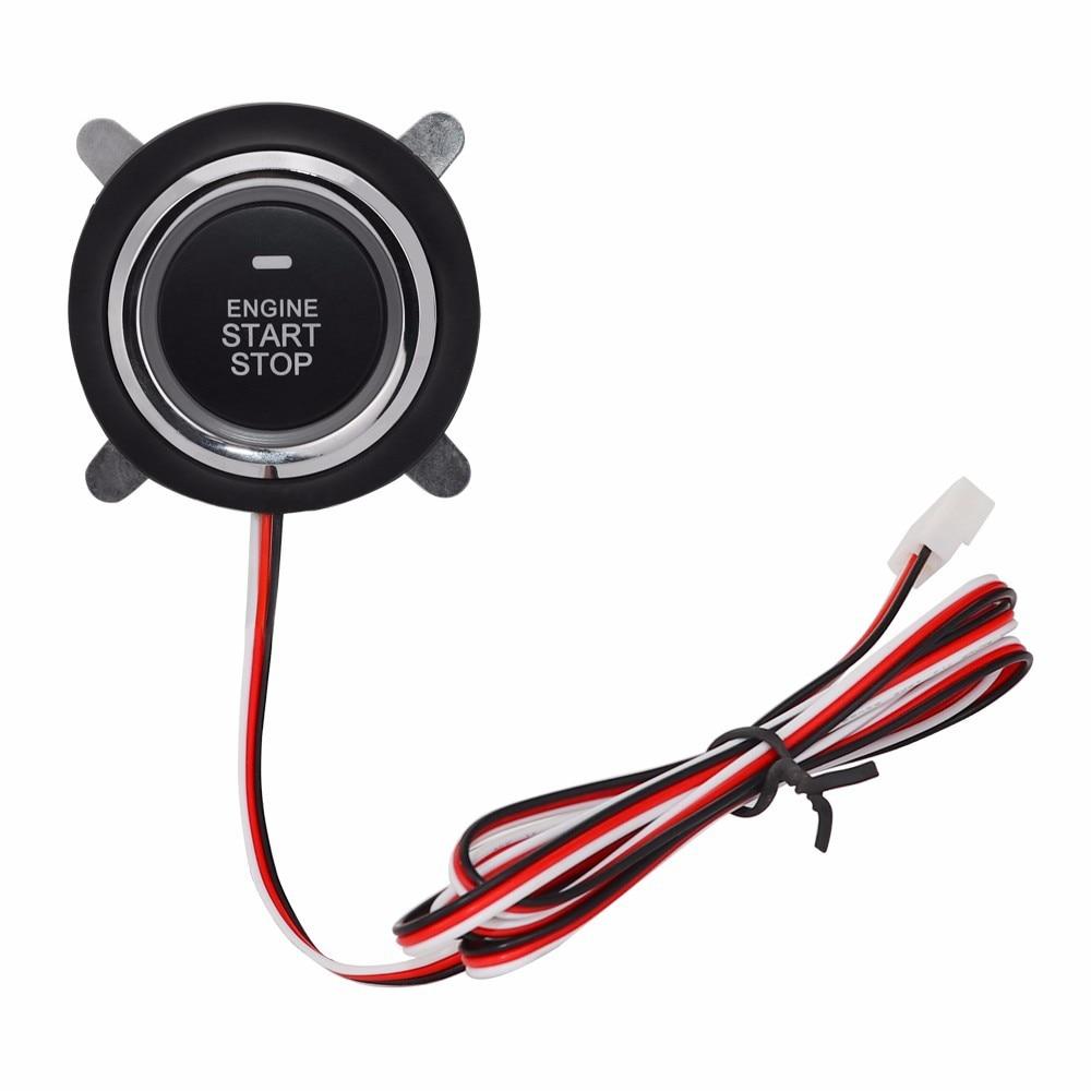 Button PKE Start Stop Car Engine With Wire Circuit Board Lgnition Starter Engine Starter Switch Work Push Start Antithef System