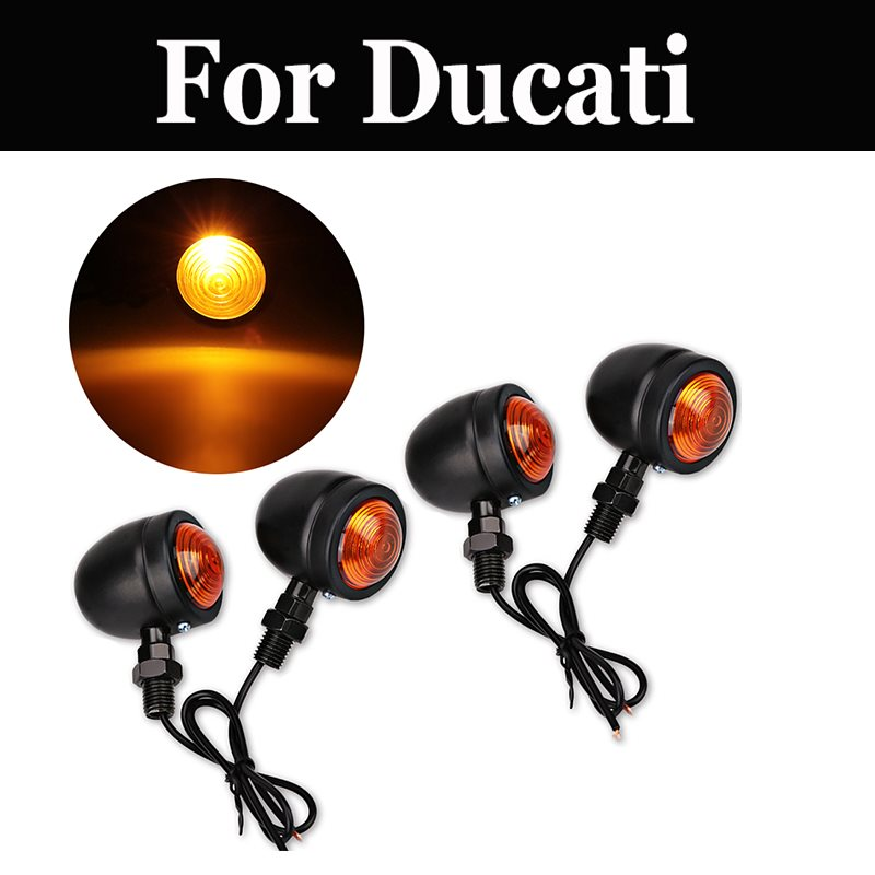 4pcs/Set Universal Motorcycle Turn Signals Indicator Light For Ducati Monster 400 600 620 620ie 695 750 S 800s2r 900 1000