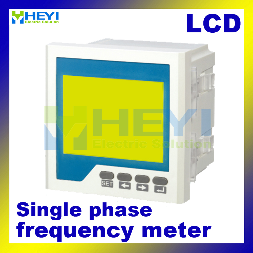 LCD digital frequency counter 120*120mm 96*96mm single phase digital Frequency meter d2y panel size 120 120 low price and high quality lcd single phase digital multifunction meter for distribution box