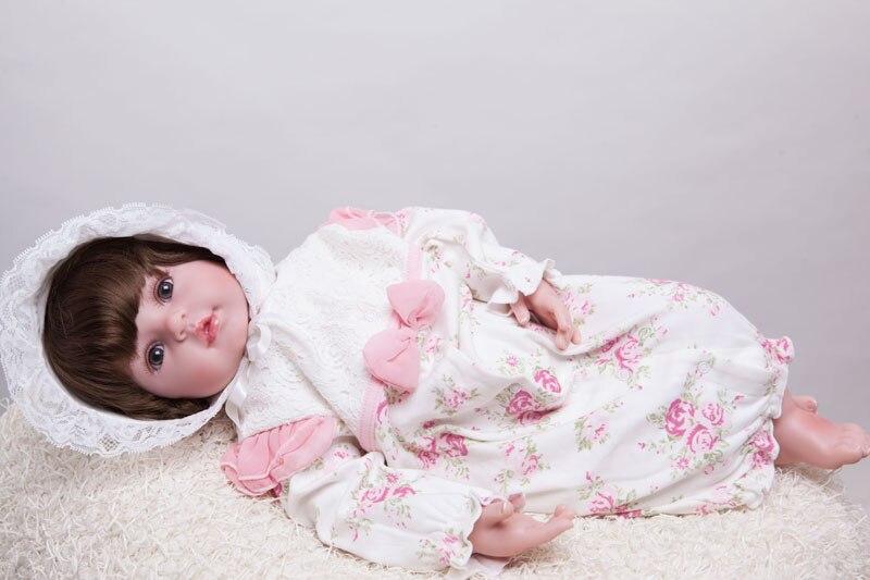 55cm silikonske preporođene dijete lutka igračke Lifelike vinil - Lutke i pribor - Foto 4