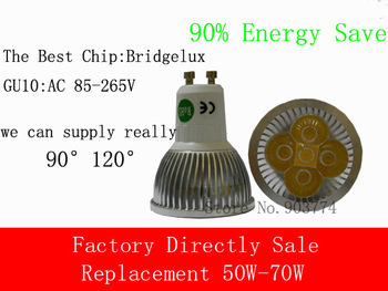 1pcs/lot GU10 10W LED Spot Light Bulb Lamp AC85~265V Cool White/Natrual White/Warm White Spotlight high quality 9w epistar led spot bulb e27 base par38 led light 900lm white ac85 265v ce