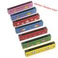 Colorido brinquedo instrumento Musical educacional madeira pintada Harmonica for Kids presente das crianças aleatoriamente garoto de alta qualidade