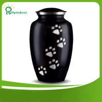 Pet Ashes Cremation Holder Urns Small Adult Dog with Cat Paw Memorial Casket Animal Funeral Keepsake for Pet