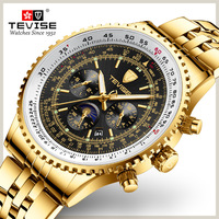 Tevise Men Watch Luxury Gold Business Casual Automatic Mechanical Watches Waterproof Wristwatches Clock Relogio Masculino 2019