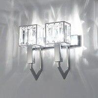 Modern Art Wall Lamp Iron Art Crystal Glass LED Wall Lamps for Bedside Aisle Corridor Lighting Sconce Light House Decoration