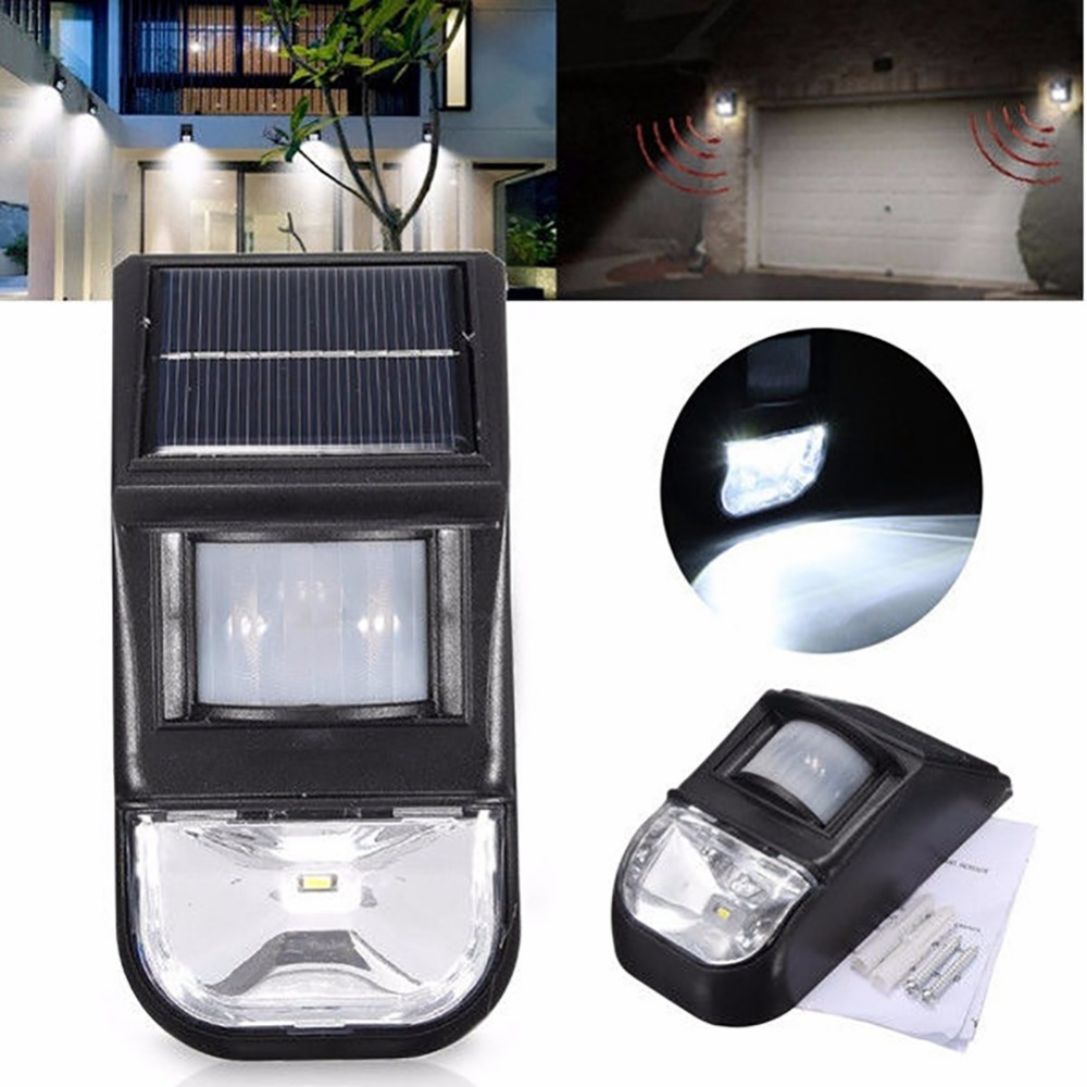 LumiParty Waterproof New Style Solar Powered PIR Motion Sensor LED Wall Light Energy Saving Outdoor Security Lamp Free Shipping ...