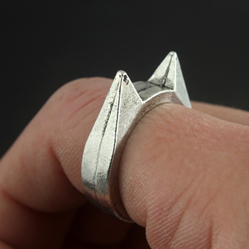 Cat Ear Self Defence Finger Ring Pendant Keychain Multifunction