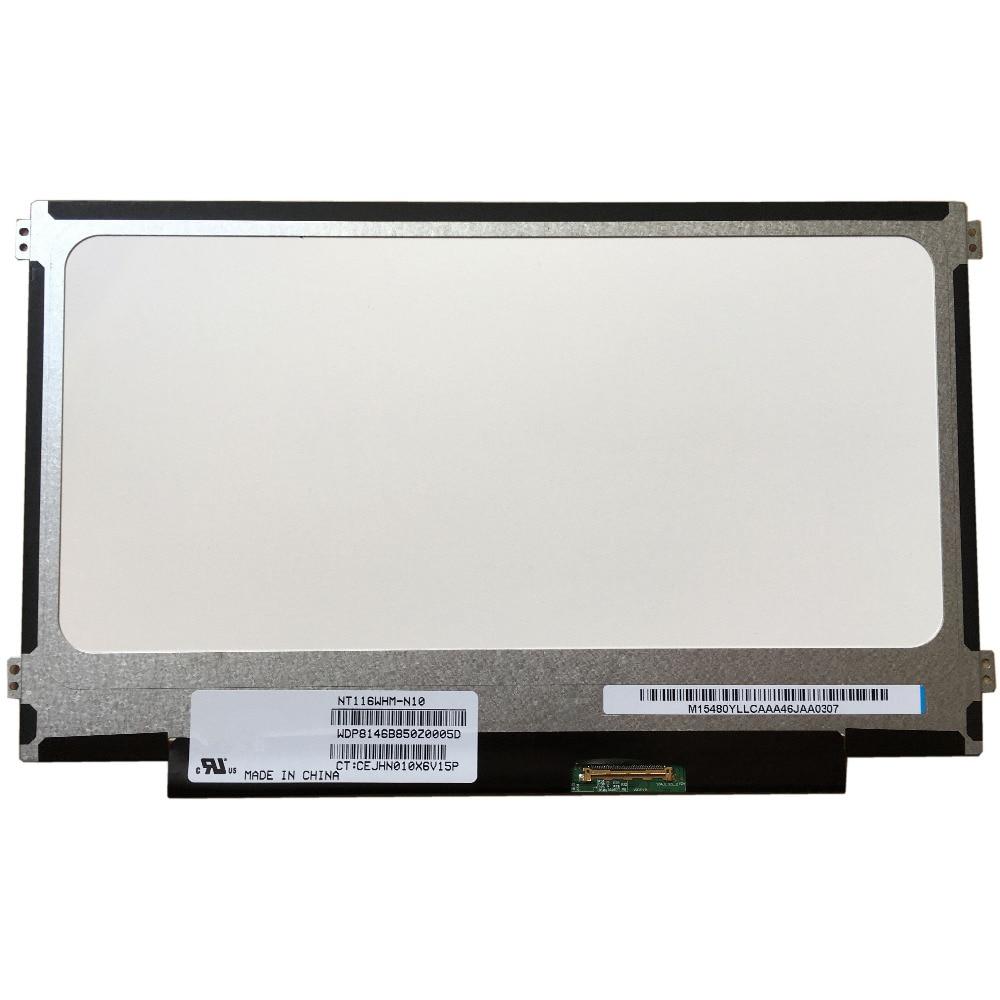 LALAWIN NT116WHM-N10 Fit N116BGE-L41 B116XW01 V.0 B116XW03 Left+right Screw Holes 11.6 SLIM 40 Pin LAPTOP LED SCREEN